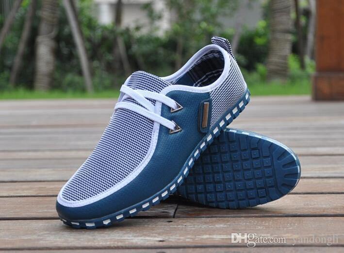 Printemps et automne marée chaussures de sport pour hommes chaussures anglaises de grande taille 39-47 version coréenne des chaussures de conduite pour hommes
