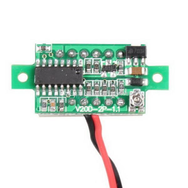 Mini DC 2.5-30V Rote LED 3-Digital Display Spannung Voltmeter Panel Motor Neue B00126 BARD