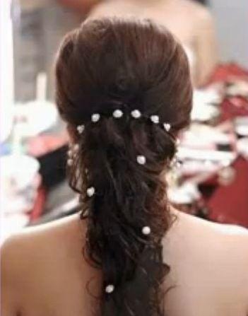 Ingrosso Coreano Stile Donna Accessori da sposa Perle Forcine capelli Fiore di cristallo strass perni di capelli Clip gioielli capelli damigella d'onore