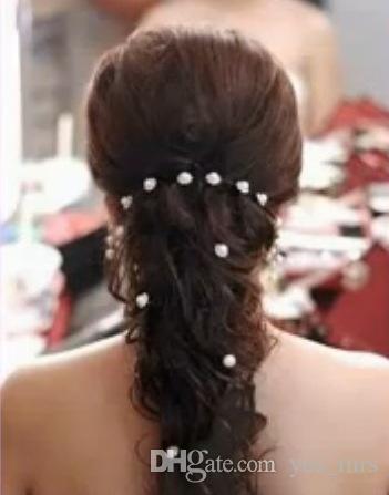 Vente en gros style coréen femmes mariage Accessoires de mariée Perle épingles à cheveux fleur Rhinestone épingles à chignons Clips de demoiselle d'honneur Bijoux de cheveux