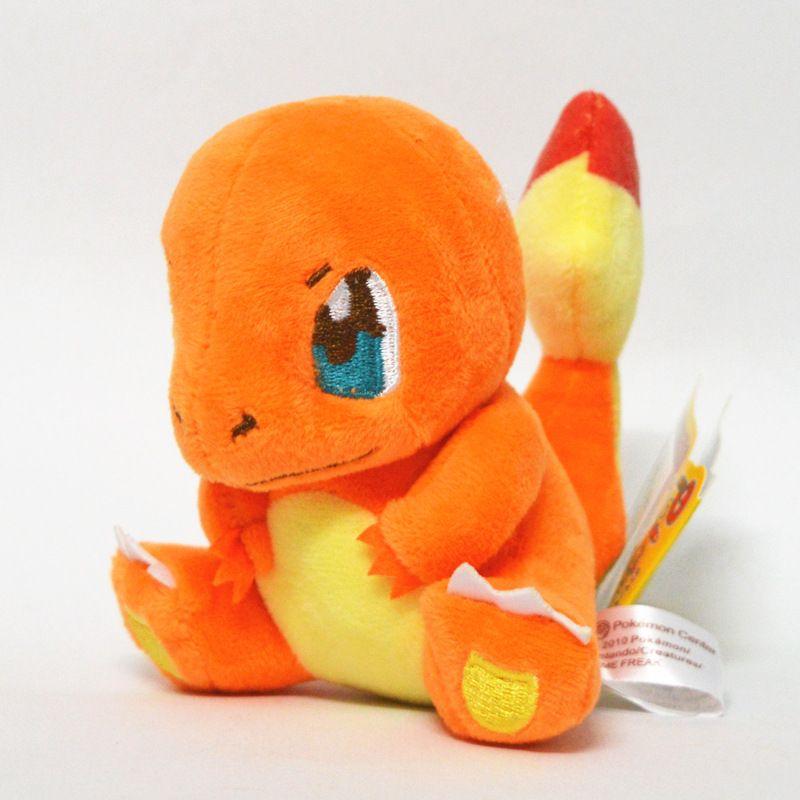 15cm 6inch Poke Plush Dolls Charmander Squirtle Bulbasaur Cartoon Figures Stuffed Animals Toys For Kids children XMAS Gifts