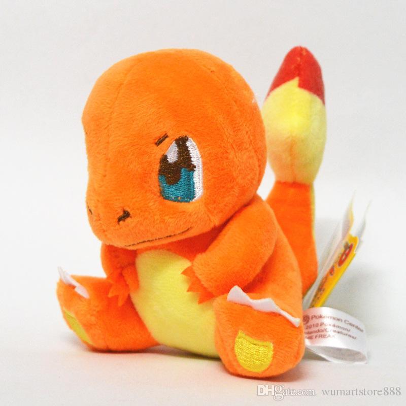 Hot new 15cm 6inch Poke Plush Dolls Charmander Squirtle Bulbasaur Cartoon Figures Stuffed Animals Toys For Kids children XMAS Gifts