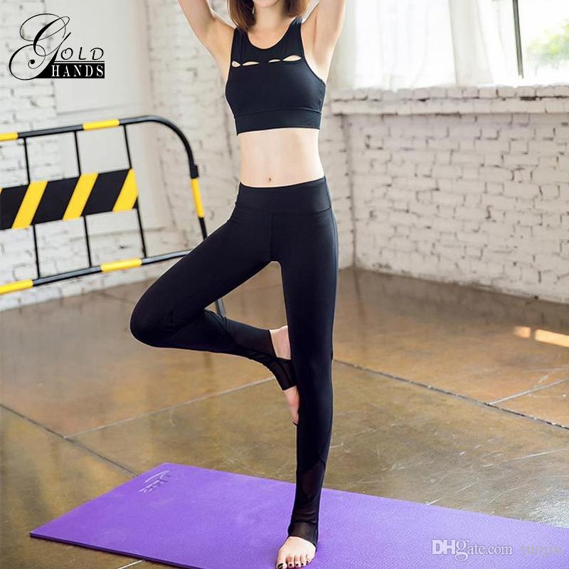b0f154a915 2019 Women Slim Fit Sport Pants Female Trousers Fitness Gym Pants Leggings  Sexy Yoga Elastic Pants Dry Running Tight Sport Breathable Leggings From  Tuojin, ...