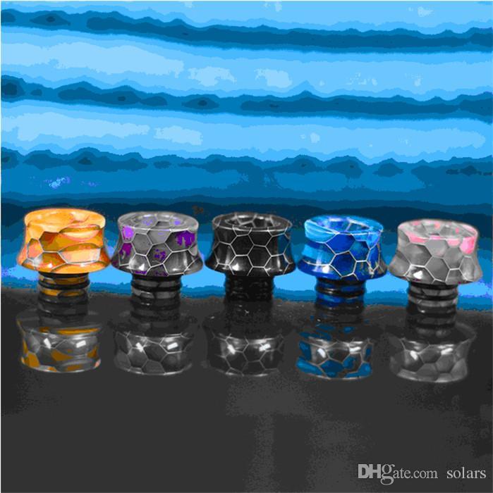 10 Typen 510 Tropfspitze Rainbow Honeycomb Resin Mundstück für 510 Gewindebehälter TFV8 Baby Ego Aio Melo 2 3