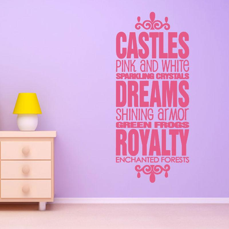 Castles Pink And White Wall Sticker Quotes Diy Character Home Decor  Removable Vinyl Art Wall Decal For Bedroom Star Wars Wall Decals Star Wars Wall  Stickers ... Part 79