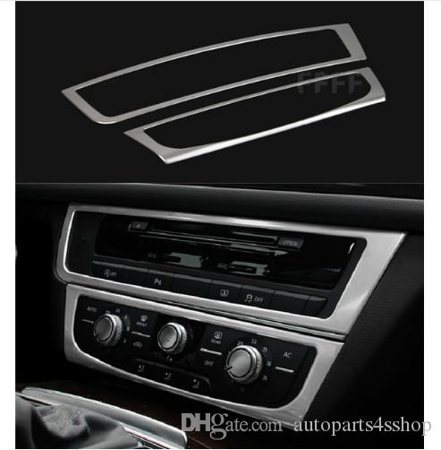 2019 Car Center Console Panel Decorative Cover Trim Stainless Steel