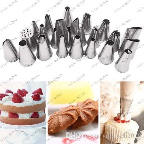 Acier inoxydable DIY Glaçage Buses Pâtisserie Conseils Gâteau Crème Glacée Décoration Fondant Gaufrage Outil Livraison gratuite LLFA8889