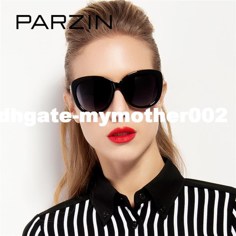 83a512da4 PARZIN Brand Cat Eye Women's Sunglasses Real Polarized Glasses For ...