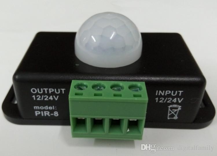 Mini Automatic PIR Motion Sensor Switch DC 12V-24V 8A Automatic Infrared For LED Strip LED Light Smart Home