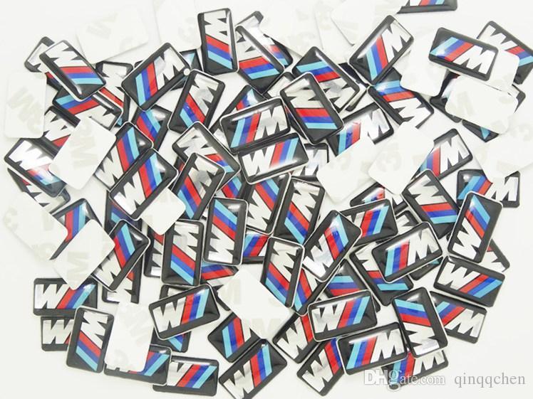 100 قطع tec الرياضة عجلة شارة 3d شعار ملصق الشارات شعار ل bmw m سلسلة m1 m3 m5 m6 x1 x3 x5 x6 e34 e36 e6 ملصقات السيارات التصميم