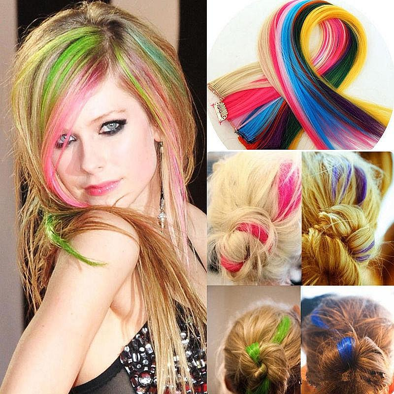 False Hair Extension For Women Apply Hair Clips On The Hairpiece
