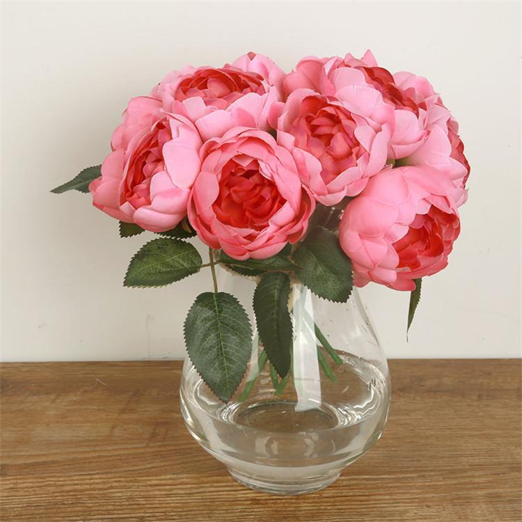 El yapımı Çiçekler Düğün Gül Şakayık İpek Çiçek Gelin Düğün Buket Tek Düzenlemeleri Nedime Yapay Dekor