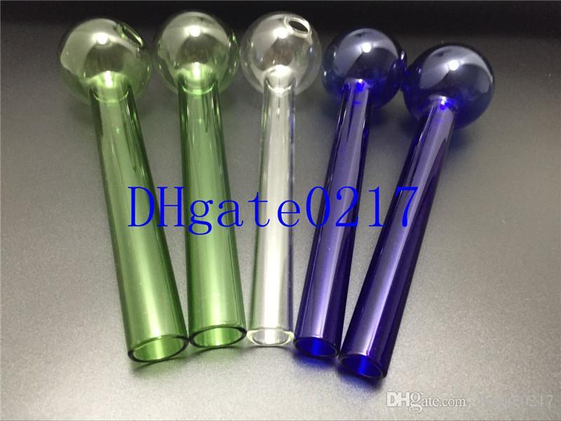 Misturado colorido 20 cm Pirex De Vidro grande queimador de óleo de vidro queimador de óleo de vidro tubo de vidro tubo de unha de óleo