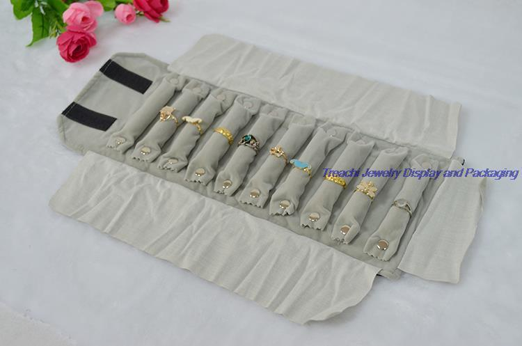 Jewelry Bag Roll Holder for Ring Storage Organizer Personalized Fashion Jewelry Carrying Case