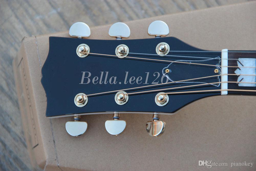 Custom guitar shop, OEM handgemachte WEISS farbe 43 '' Jumbo akustische gitarre, kann es in 24 stunden