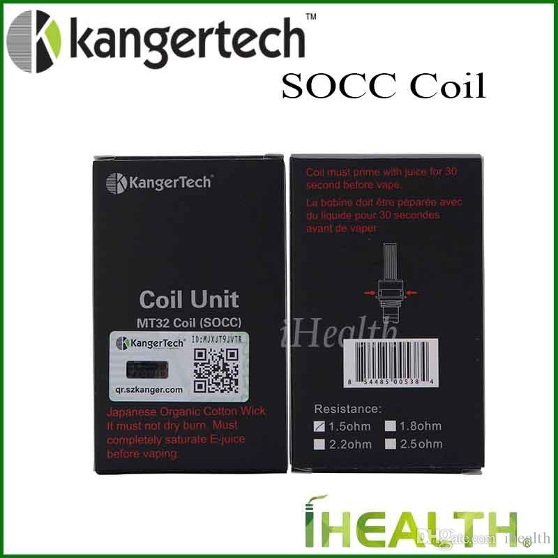 Kanger SOCC Replacement Coil Head for Kangertech Protank 2 Mini EVOD Atomizers Authentic MT32 coil Head with Japanese Organic Cotton