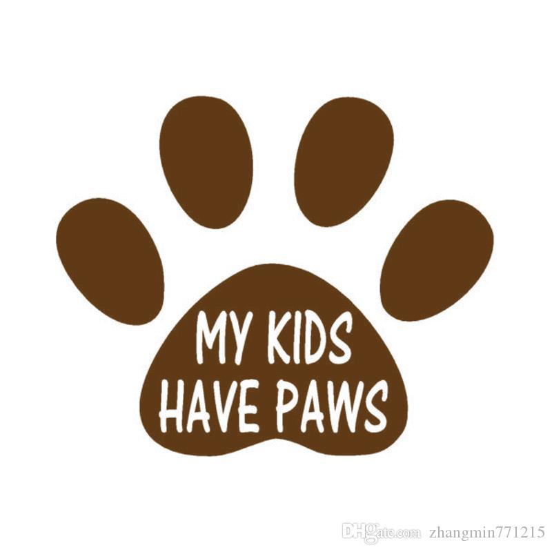 Wholesale Automobile Motorcycle Vinyl Decal Car Glass window Windshield Bumper Door SUV Auto Stickers Jdm Animal My Kids Have Paws
