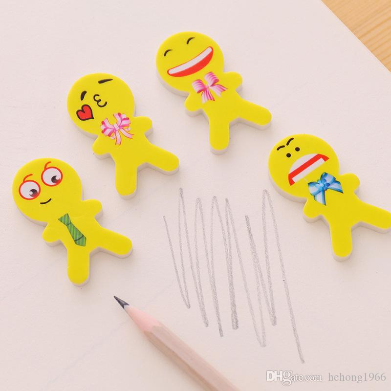 Originality Erasers Emoji Smiling Face Eraser Student Study Supplies Examination Special Stationery Children Game Small Prizes 0 17dc C R