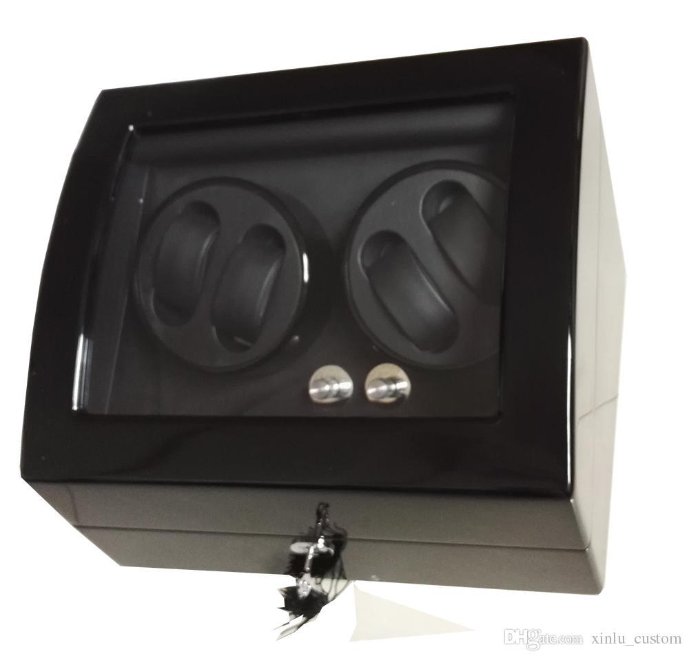 2017 подарок часы аксессуары коробка часы моталки Черный лес case для 4 ротатор часы 6 хранения движение ratator коробки моталки часы box