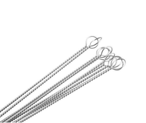 100x tubo detergenti Nylon paglia detergenti Spazzola di pulizia bere tubo in acciaio inox tubo cleaner e260531