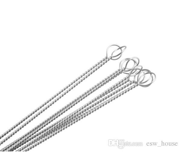100X tuyaux Nettoyage Nettoyage Nylon paille Brosse de nettoyage pour tuyau potable tuyau en acier inoxydable E260531 nettoyeur