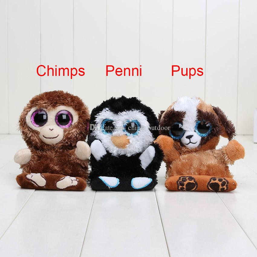 6d43ca75487 Ty Peek A Boo Phone Holder With Screen Cleaner Bottom Penguin Penni Monkey  Chimps Dog Pups TY Big Eyes Toys UK 2019 From China outdoor
