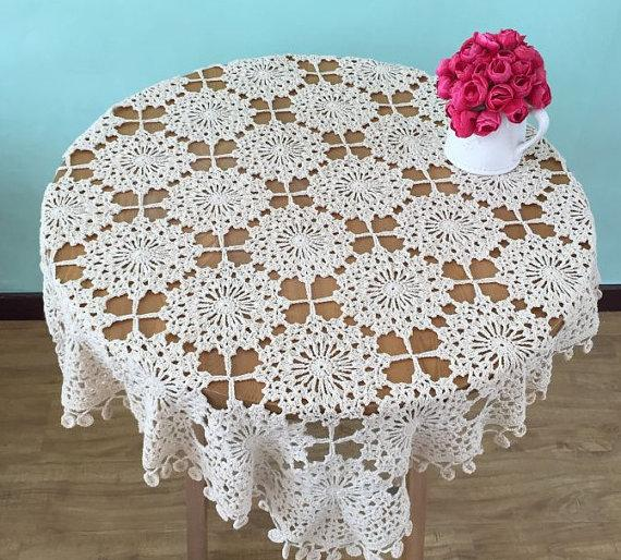 Gorgeous Table Covers For Home Decor Crocheted Table Topper For Mom