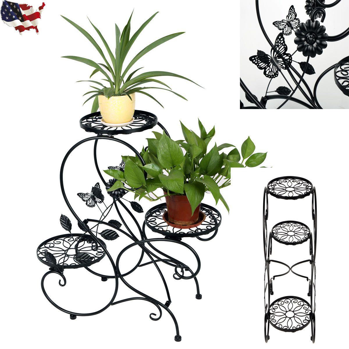 2017 3 Tier Metal Plant Stand Indoor Decorative Planter Holder Flower Pot  Shelf Rack From Laogeng668, $384  Dhgate