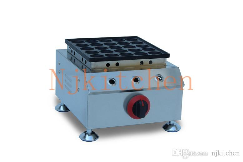 Ücretsiz Kargo 25 adet Ticari Kullanım yapışmaz Küçük Mini Hollandalı Gözleme LPG Gaz Poffertjes Baker Maker Demir Makinesi + Meyilli ...