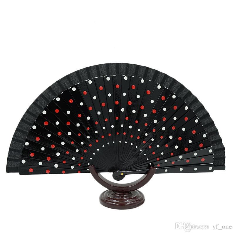10pcs Lot Dots Design Spanish Plastic Hand Fan With Assorted Colors Bridal Wedding Favors Cheap Performance 2016