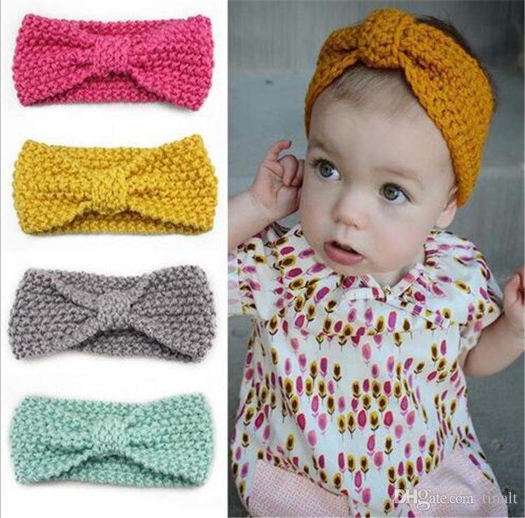 children s hair accessories baby bohemian wind knit hair