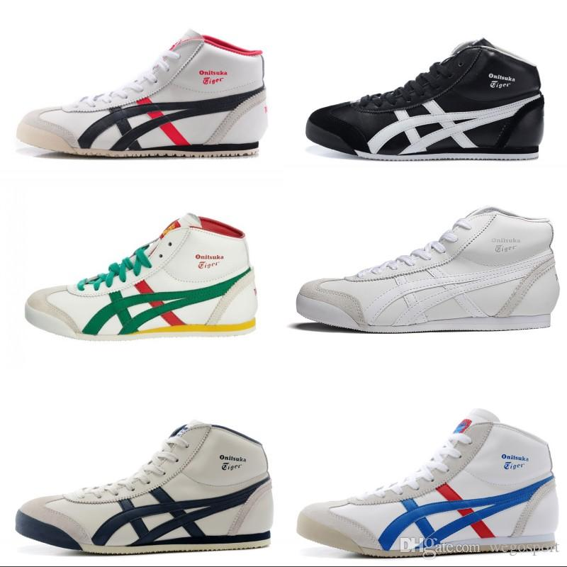 newest 524ce 51826 New Colors Asics Tiger Running Shoes For Women & Men Comfortable Zapatillas  High-top Athletic Outdoor Sport Sneakers Eur 36-44 Free Shipping