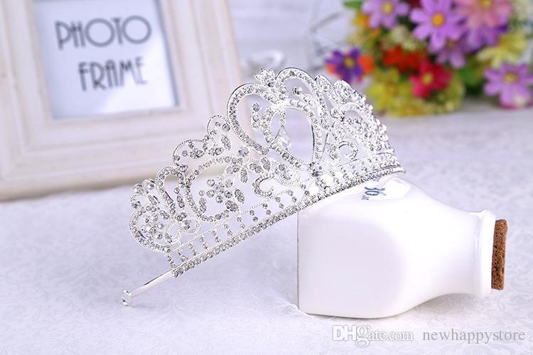 2016 جديد أزياء الزفاف تاج الملكي الذهب والفضة كريستال اكسسوارات الزفاف عقال أعلى جودة تيارا أفضل hairwear