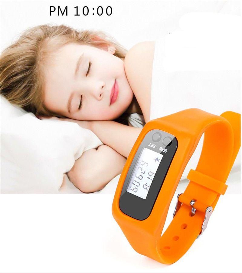 Digital LED Pedômetro Inteligente de silicone Run Passo Curta Distância Contador de Calorias Relógio Eletrônico Pulseira Pedômetros Coloridos OTH673