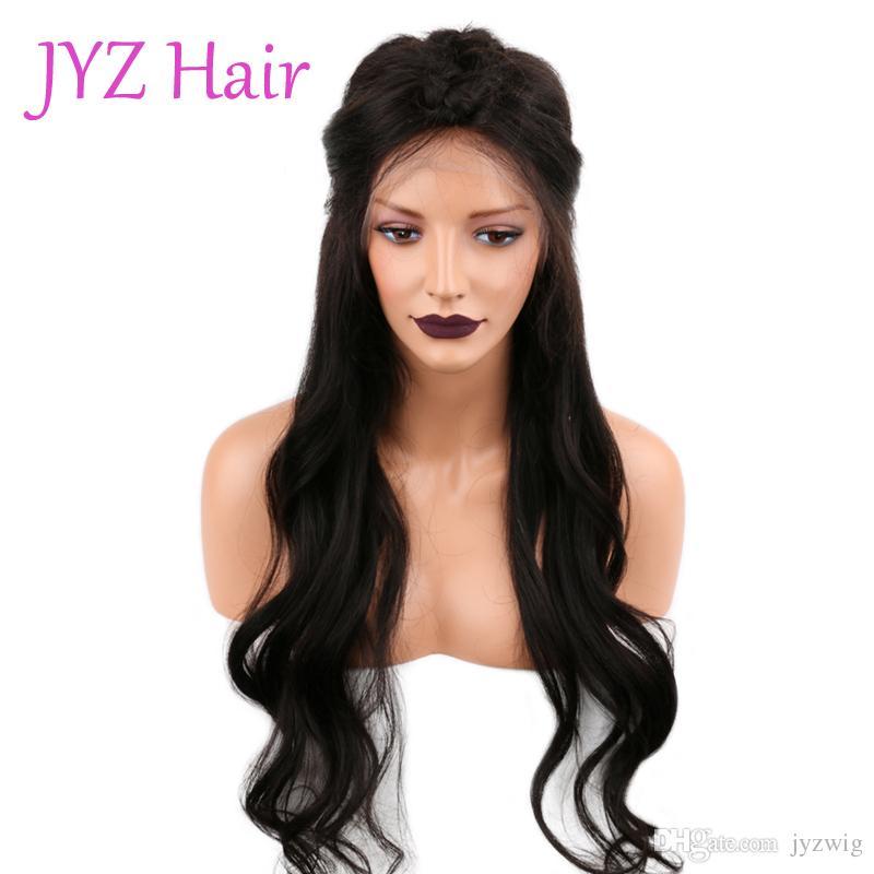 Dantel Açık Peruk Doğal renk Gevşek Dalga Brezilyalı Malezyalı Bakire İnsan Saç Tam Dantel Peruk İşlenmemiş Ucuz Fiyat İçin Satış