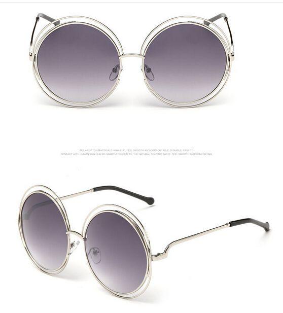 woman round color film sunglasses Metal sun glasses hollow out goggle man outdoor fashion Dazzle colour adumbral drop ship