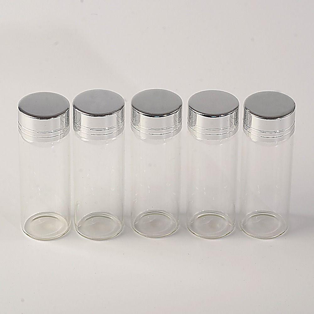 14ml Glass Bottles Screw Cap Silver Aluminium Lid Empty Glass Jars Vials Bottles Sealing up Skin Care Cream1