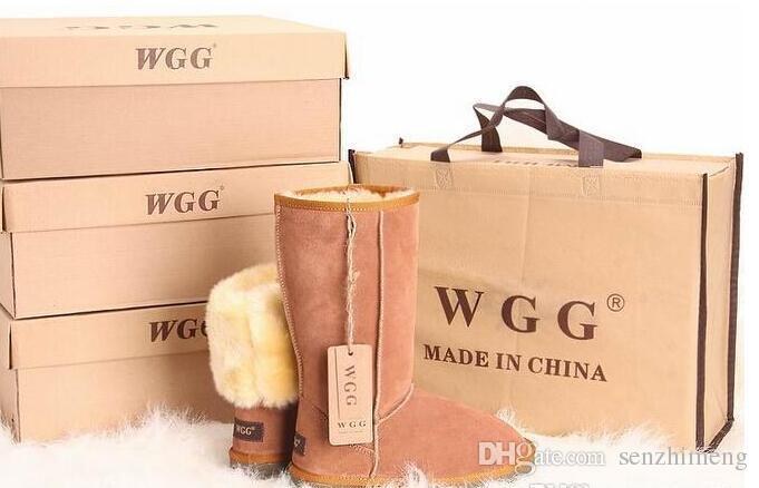 Envío gratis 2016 de alta calidad WGG mujeres clásicas botas altas botas para mujer botas botas de nieve botas de invierno botas de cuero botas US SIZE 5--12