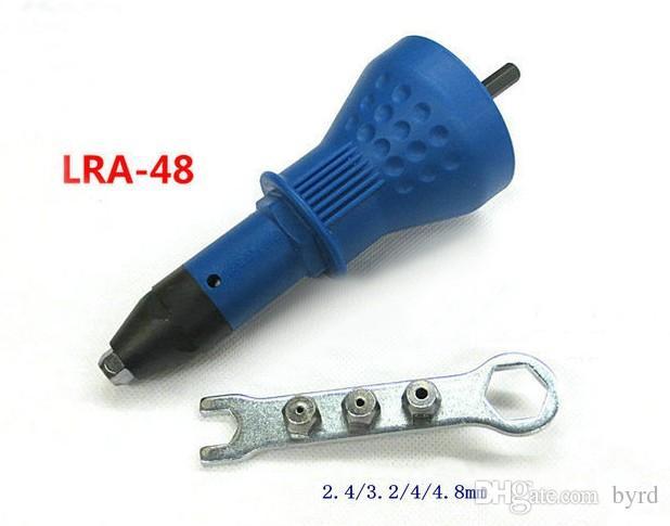 Taiwan Lakear Rivet électrique Pistolet Riveting Tool Riveting Adaptateur de forage Reveter Insérer un ongle à ongles 2.4-4.8mm T03020-1