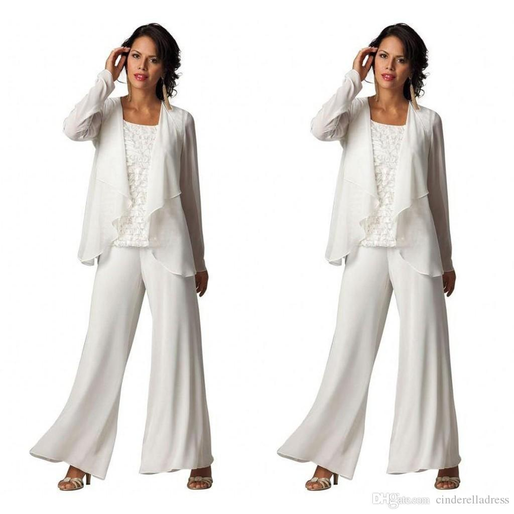Beautiful White Pant Suits For Weddings Images - Styles & Ideas ...