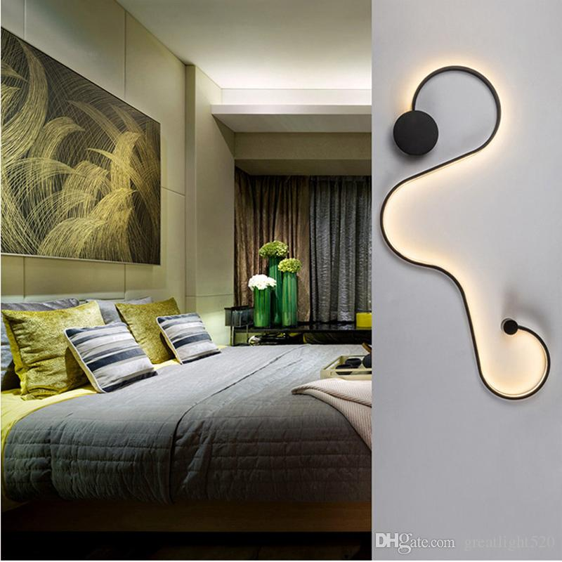 Newest Creative Acrylic Curve Light Snake LED Lamp Nordic Led Belt Wall Sconce For Decor