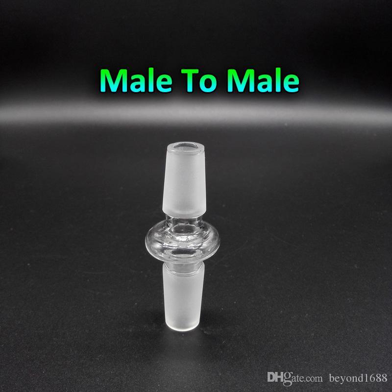 유리 어댑터 변환기 10mm의 14mm에서 18mm 남성 여성으로 10mm의 14mm에서 18mm 물 기억 만 살짝 적셔 굴착 석영 폭행에 대한 남성 여성 유리 어댑터