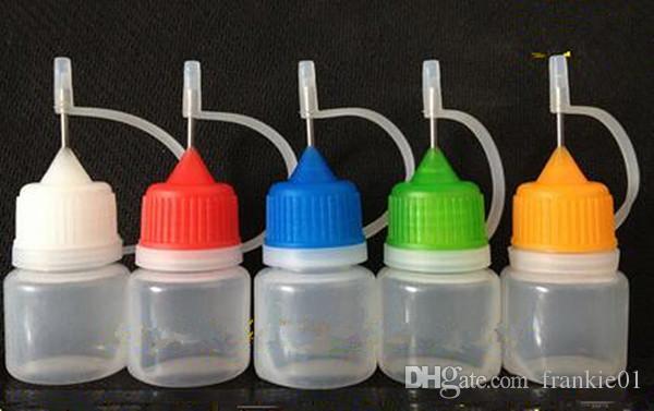 전자 담배 3ml vape 바늘 팁 vape 주스 Dropper 병 PE 플라스틱 빈 액체 Dropper 필러 전자 주스 병 바늘 끝 모자