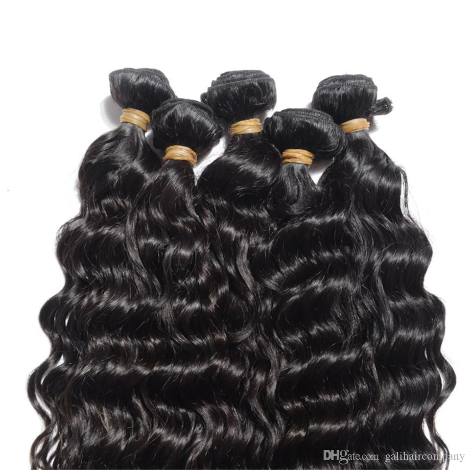 8A High Quality Indian Natural Wave Unprocessed Human Hair Extensions 8-30inch Natural Black Color Thick Dyeable DHL