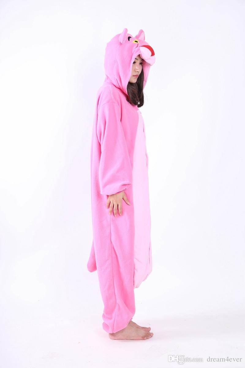 SS Newest Cosplay Anime Pink Cheetah Easter Bear Onesie Halloween Costumes Adult Women Men Pajamas Christmas Jumpsuit Romper Fleece