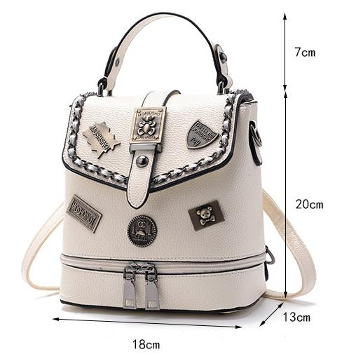 New women designer double shoulder backpacks lady fashion travel handbags female popular casual purses no295