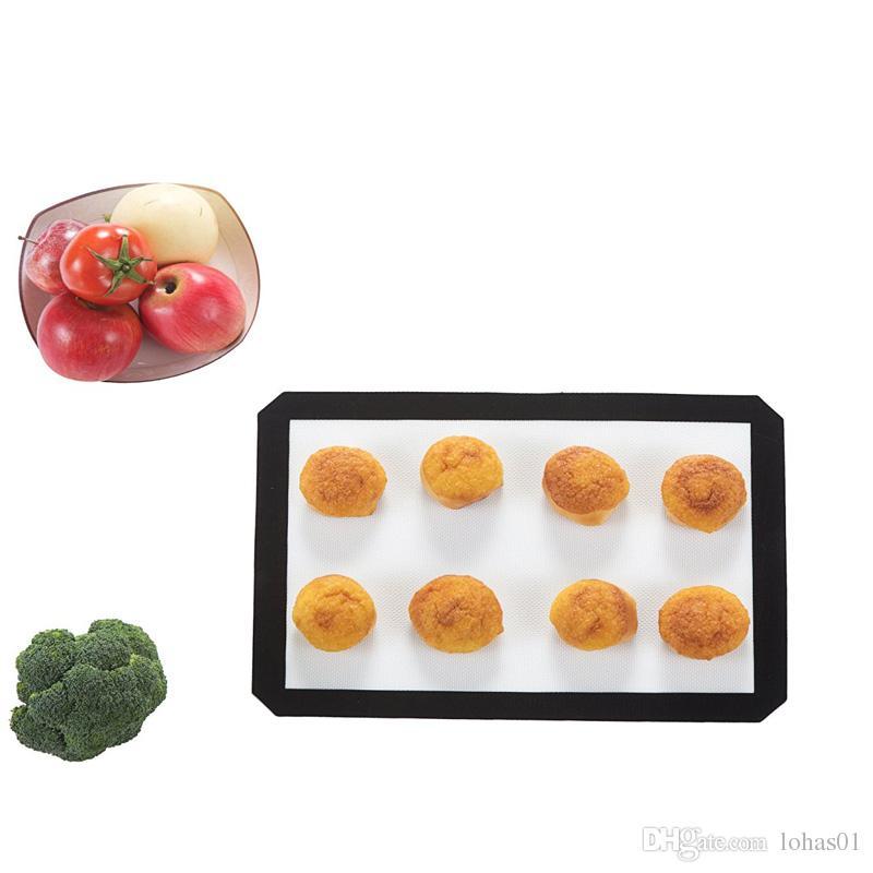 FDA Hitzebeständige Silikonmatten Rollen Teig Gebäck Backformen Liner Pad Matte Ofen Pasta Kochen Werkzeuge