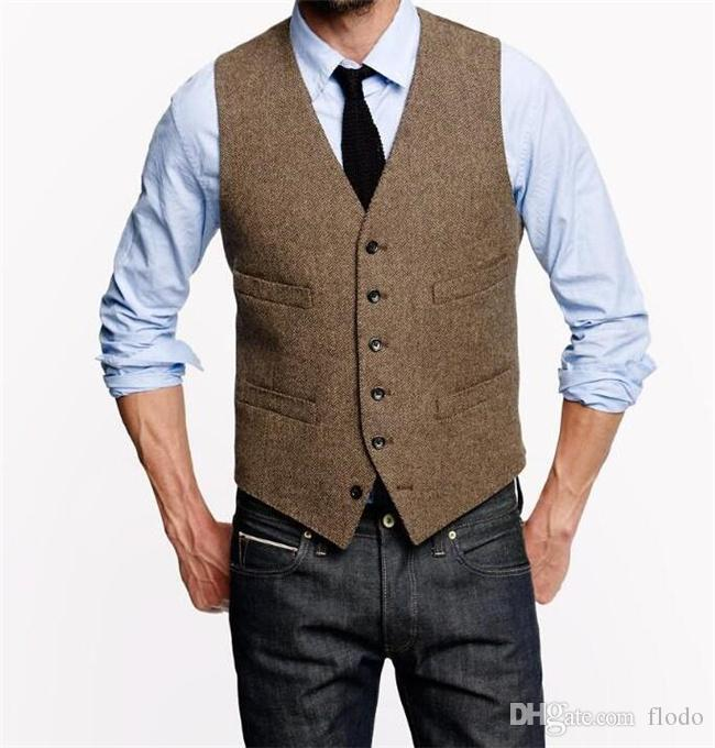 2017 farm wedding vintage brown vests custom made waistcoat groom vest mens slim fit wedding. Black Bedroom Furniture Sets. Home Design Ideas