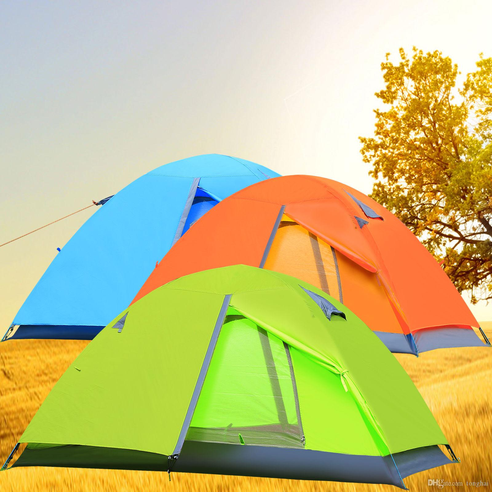 2 Person Hiking Dome Tent Outdoor Double Skin C&ing Tents 4 Season Double-wall Blueorange Light Green 2 Person Tent Double Skin Automatic Folding Online ...  sc 1 st  DHgate.com & 2 Person Hiking Dome Tent Outdoor Double Skin Camping Tents 4 ...