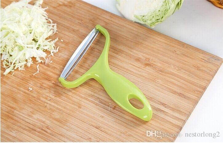 Нержавеющая сталь Растительные Овощечистка Капуста Терки Салат картофельный Slicer Cutter Фруктовый нож Кухонные принадлежности Готовим инструменты
